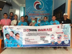 Partai Gelora Kota Jambi Gelar Aksi Donor Darah