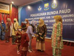 Kukuhkan 6 Bunda PAUD Kabupaten/Kota, Bunda PAUD Provinsi Jambi: Mari Bergerak Bersama untuk Mengembangkan PAUD di Provinsi Jambi