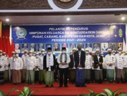 Gubernur Kukuhkan Kepengurusan Himpunan Keluarga Sa'adatuddaren Periode 2021-2021