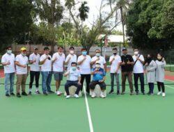 Resmikan Lapangan Tenis, Al Haris Minta Jaring Bibit Atlit Baru Dari Generasi Muda