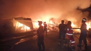 46 Kios di Bangko Ludes Terbakar