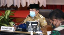 Gubernur Paparkan Aksi Percepatan Penanganan Covid 19 kepada Kapolri dan Panglima TNI