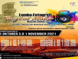 Museum Siginjei Kota Jambi Gelar Lomba Fotografi Tingkat Mahir, Hadiah Uang Jutaan Rupiah